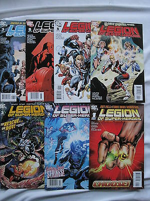 LEGION OF SUPERHEROES #s 1,2,3,4,5,6,7 of the 2010 SERIES by LEVITZ & CINAR