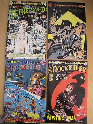 PACIFIC PRESENTS :COMPLETE 4 ISSUE SERIES inc The ROCKETEER by DAVE STEVENS.1982