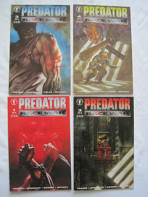 "Predator : ""race War"" - Complete  4 Issue Series + 0 (Zero). 5 Issues. Dh. 1993"