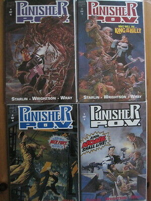"PUNISHER  ""P.O.V."" : COMPLETE 1991 PRESTIGE 4 issue SERIES by STARLIN,WRIGHTSON"