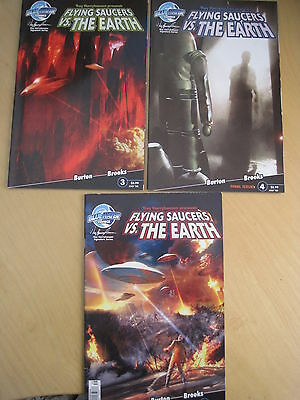 RAY HARRYHAUSEN PRESENTS : FLYING SAUCERS Vs EARTH : #s 1,3,4 (of 4). 2008