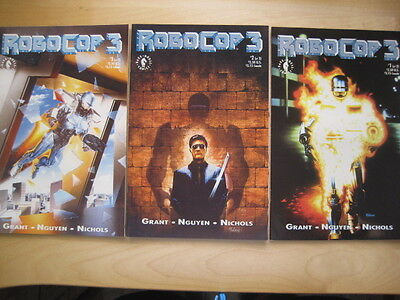ROBOCOP 3 : COMPLETE 3 ISSUE SERIES of the MOVIE by GRANT & NGUYEN. DARK H.1993