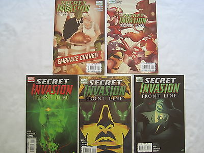 Secret Invasion : Front Line -  Complete 5 Issue Series. Marvel. 2008