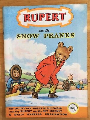 RUPERT Adventure Series No 31 Snow Pranks JANUARY 1957 Very FINE Ex-Shop Stock