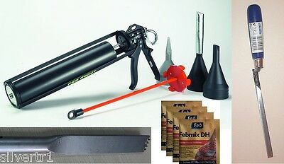 Turptech TCT SDS+ Whole Brick Removal Chisel + Pro-Point Mortar & Grout Gun Kit
