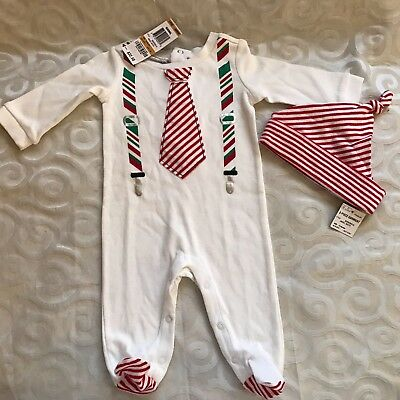 First Impressions Angel White One-Piece Holiday Outfit with Hat Sz 0-3 Mon NWT