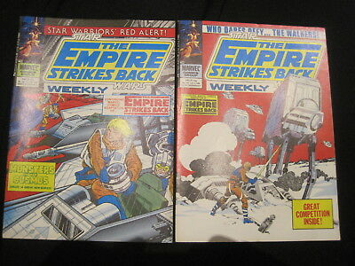 STAR WARS WEEKLY : BUNDLE of 2 ISSUES : 122,123 of the 1977 BRITISH SERIES