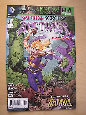 SWORD of SORCERY featuring  AMETHYST   #  1.  1st PRINT. THE NEW 52!  DC. 2013