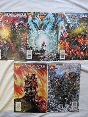 TERMINATOR 2 : INFINITY. 5 ISSUE  SERIES by FURMAN & RAYNOR with ALT covers.2007