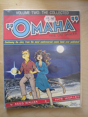 "The COLLECTED ""OMAHA"" the CAT DANCER Volume 2. WALLER,WORLEY.OUTSIZE GRAPHIC NOV"