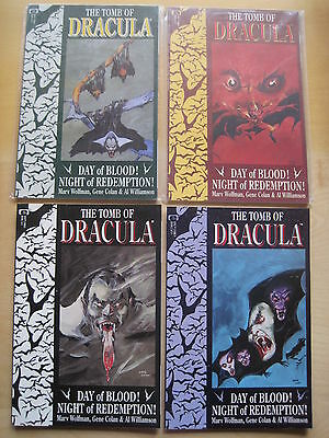 The TOMB OF DRACULA :COMPLETE PRESTIGE 4 ISSUE SERIES. WOLFMAN & COLAN.EPIC.1991