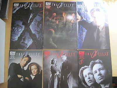 THE X FILES : SEASON 10 #s 1,2,5,7 (both covers),13. MULDER. SCULLY. IDW. 2013