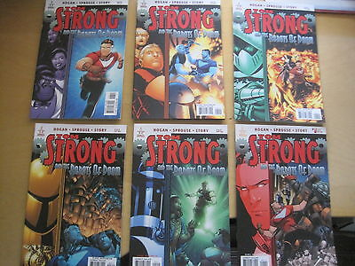 TOM STRONG : ROBOTS of DOOM :COMPLETE 6 ISSUE SERIES by HOGAN & SPROUSE.ABC.2010