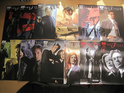 THE X FILES : SEASON 10 #s 1,2,3,4,5,7,10,11,12,13,14,15,17. MULDER.SCULLY. 2013