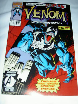 VENOM  : LETHAL PROTECTOR issue 2. Stored from new. SPIDERMAN.1993. MARVEL