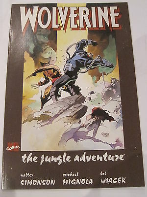 "WOLVERINE : ""The JUNGLE ADVENTURE"" SOFT COVER GRAPHIC NOVEL by SIMONSON, MIGNOLA"