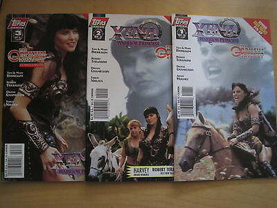 "XENA, WARRIOR PRINCESS ""The ORPHEUS TRILOGY"" :COMPLETE SERIES. PHOTO COVERS.1998"