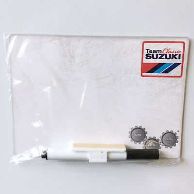 New - Suzuki Genuine Accessory - Team Classic Fridge/Tool Box Whiteboard - SUZ2W