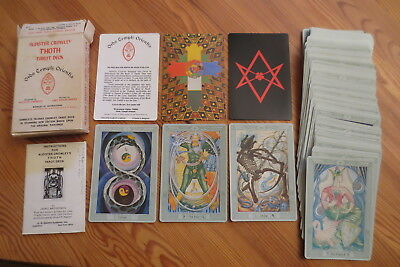 Altes Tarot Kartenspiel Aleister Crowley Thoth Tarot Playing cards 1983