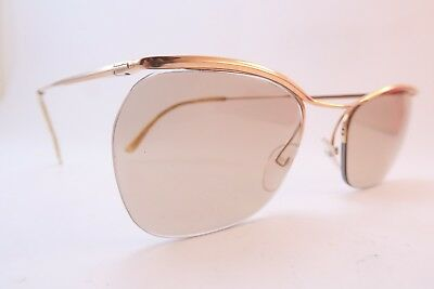 Vintage 50s eyeglasses frames gold filled supra Essel made in France