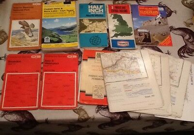Job Lot / Collection Of Mainly Ordnance Survey Maps Of Wales
