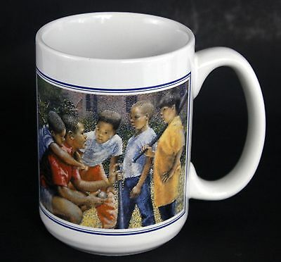 "1997 Brenda Joysmith ""PUSHING EXCELLENCE"" Signed Coffee Cup Mug LARGE Size"