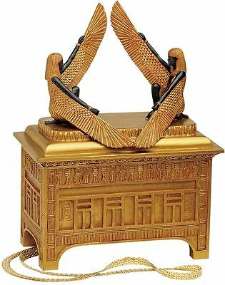 "Egyptian Sculpture Replica Art of the Covenant Large 12""H Trinket Box NEW"