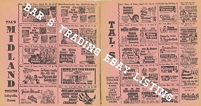 1965 Tal'S Drive In & Midland Movie Theatre Calendar Ad May Coffeyville Kansas