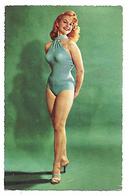 Cpsm A79 Miss Rousse Sexy Pin-Up Glamour Mannequin Cuisse Nue Mode Maillot Bain