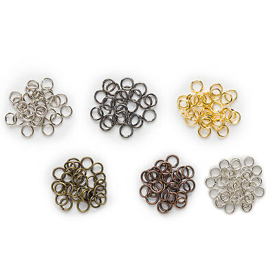 6 Colors Open Jump Rings Link Loops Connectors Findings Jewelry Making 4-12mm