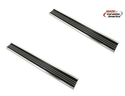 68-77 Corvette C3 NEW Door Sill Plate Set Plates PAIR TWO