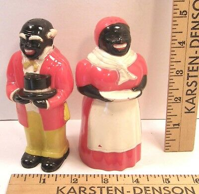 "Vintage F&f Die Works 5"" Aunt Jemima Uncle Mose Salt Pepper Shakers Quaker Oats"