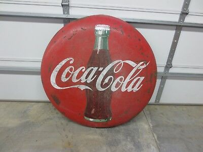 "Vintage COCA COLA 48"" Advertising Button"