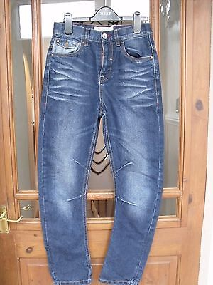 Premium Denim Carrot Fit Stonewashed Antiqued Jeans Zip Fly Age 12 Years