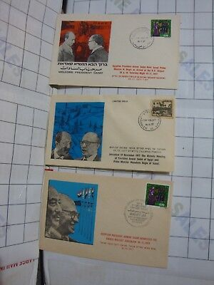 vintage postal covers EGYPT ISRAEL middle east peace Begin Sadat stamp 3x stamps