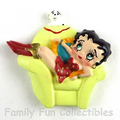 BETTY BOOP~1990s Vandor~Figural Magnet~Holiday Set~Chair Doll Figure~NEW NOS