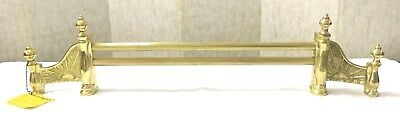 Vintage Solid Brass Fireplace Fender / Fireplace Tools