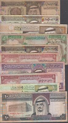 10 Banknotes from Saudi Arabia