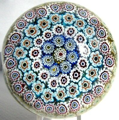 Briefbeschwerer / Paperweight MURANO Concentric Millefiori + End of Day! Rarität