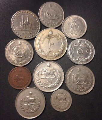 Old Iran Coin Lot - 1939-PRESENT - Mostly Older Shah Era - Scarce - Lot #N23