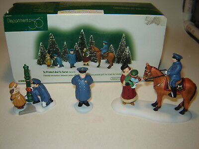 Dept 56 CIC Accessory  - To Protect And To Serve - 3 Pc Set
