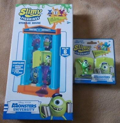 Monsters University Slimy Figurines - MIKEY & Storage House - New