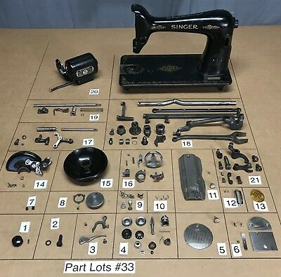 1950 Singer 66 16 Sewing Machine Parts Lots Replacement Repair Restore Original