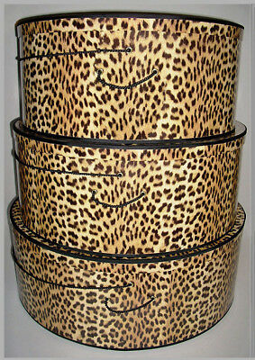 "SUPERSIZE ~20""~ 22""~ 24"" x 8""-9"" Deep ~ Millinery HATBOXES ~ Stack of 3 ~ Choice"