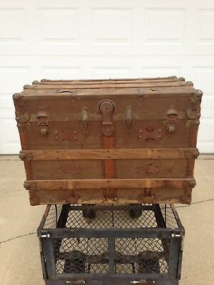 Vintage Steamer C&M Correct Make Wardrobe Trunk