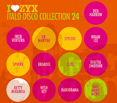 CD ZYX ITALO DISCO COLLECTION 24 from Various Artists 3 CDs