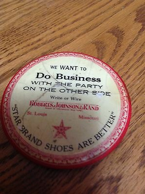 Star Brand Shoes Vintage Advert.Promotional Mirror,used cond.