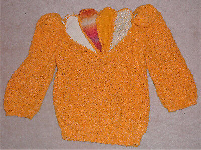 Handmade designer sweater from Canada, circa 1980s, by Vivienne Poy