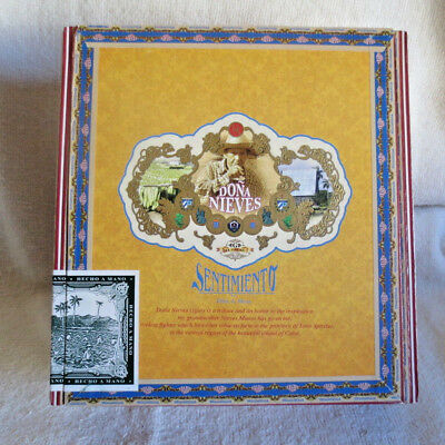 El Galan Dona Nieves Sentimiento Aprecio Paper Covered Wood Cigar Box - Nice