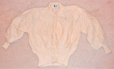 Mohair handmade dimensional pattern sweater, 80s vintage, from Canada